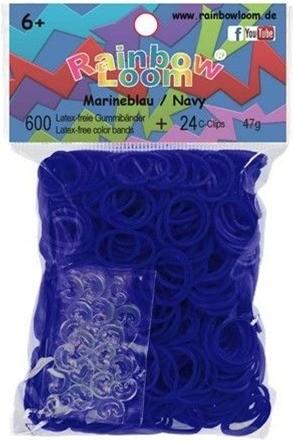 Rainbow Loom - marineblau Jelly (600er)