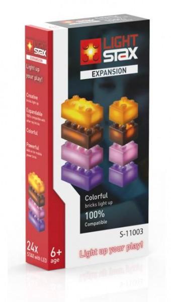 LIGHT STAX Expansion Zusatzsteine orange braun lila pink (S-11003)