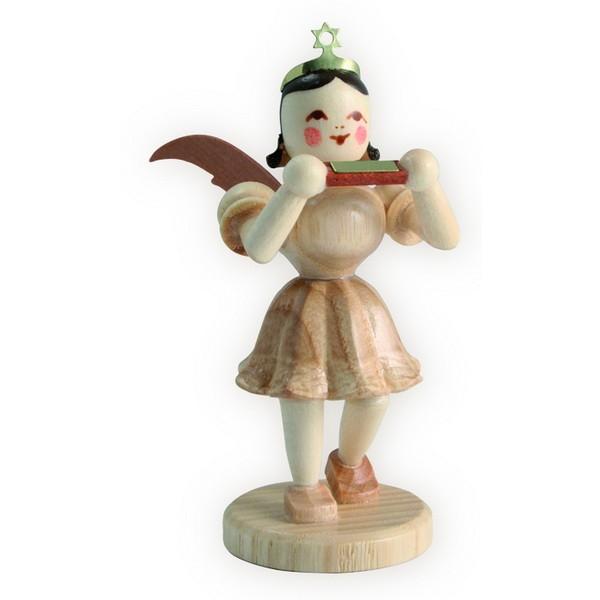 Blank Kurzrock-Engel mit Mundharmonika
