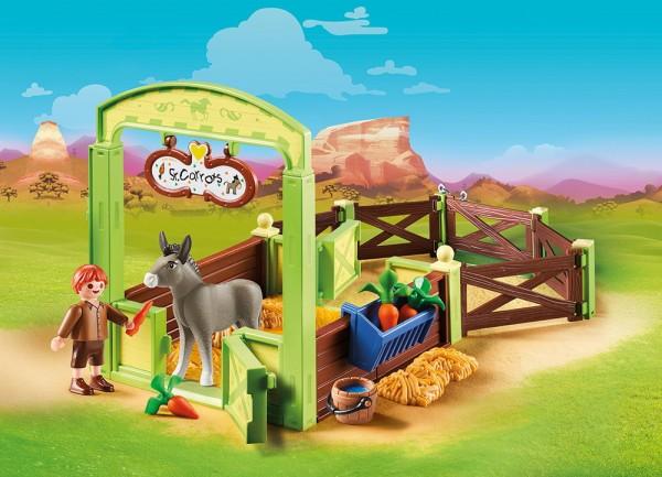 Playmobil 70120 - Pferdebox Snips & Herr Karotte (Spirit - Riding Free)