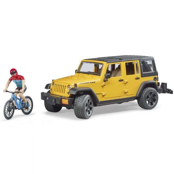 BRUDER 02543 - JEEP Wrangler Rubicon mit Mountainbike Radfahrer