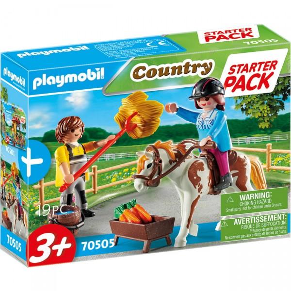 Playmobil 70505 - Starter Pack Reiterhof Ergänzungsset (Country)