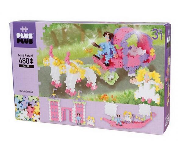 Plus-Plus - 3in1 Pastell Prinzessin 480 Teile (3771) - Bausteine kaufen