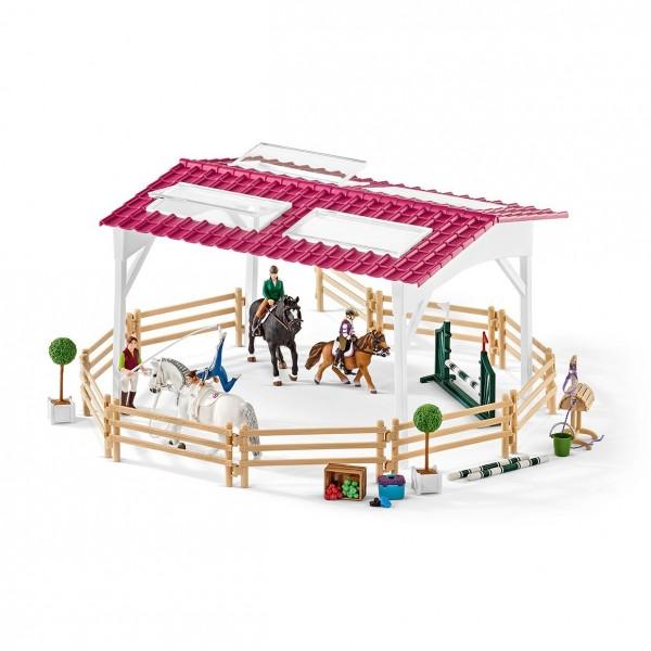 Reitschule mit Reiterinnen und Pferden - Schleich (42389) Horse Club