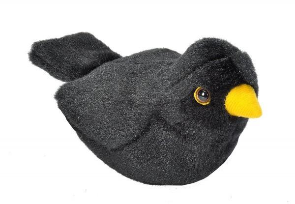 Amsel Plüsch mit echter Vogelstimme