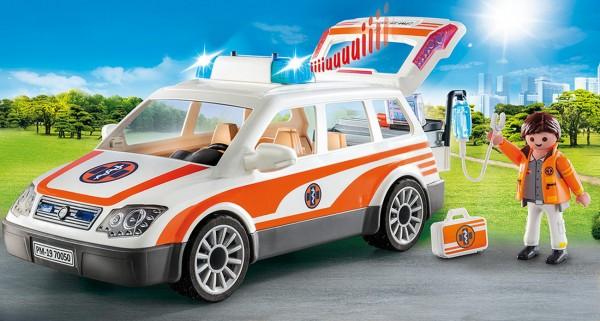 Playmobil 70050 - Notarzt-PKW mit Licht und Sound (City Life)