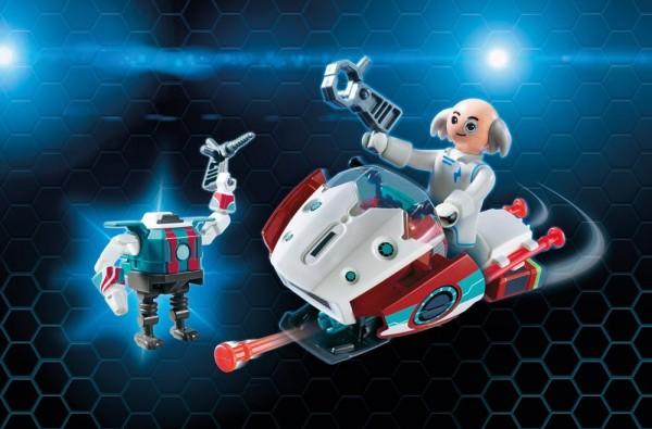 Playmobil 9003 - Skyjet mit Dr X und Roboter (Super4)