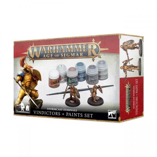 Warhammer: Age of Sigmar - Stormcast Eternals Vindicators + Paint Set 60-10
