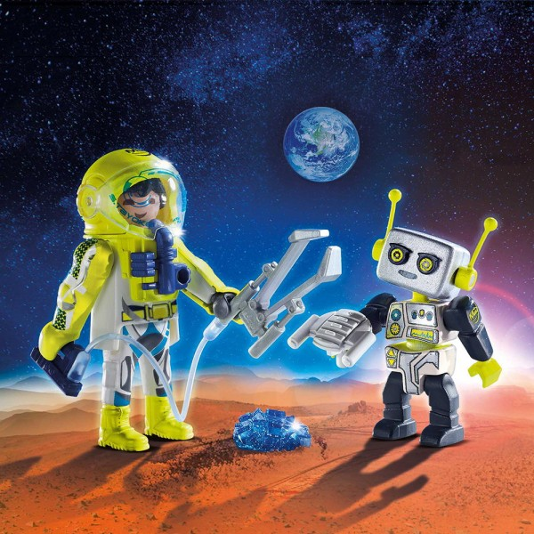 Playmobil 9492 - Duo Pack Astronaut mit Roboter Space