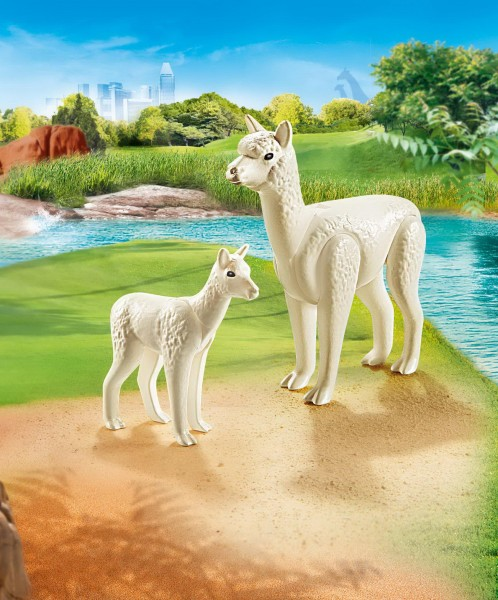 Playmobil 70350 - Alpaka mit Baby - Family Fun