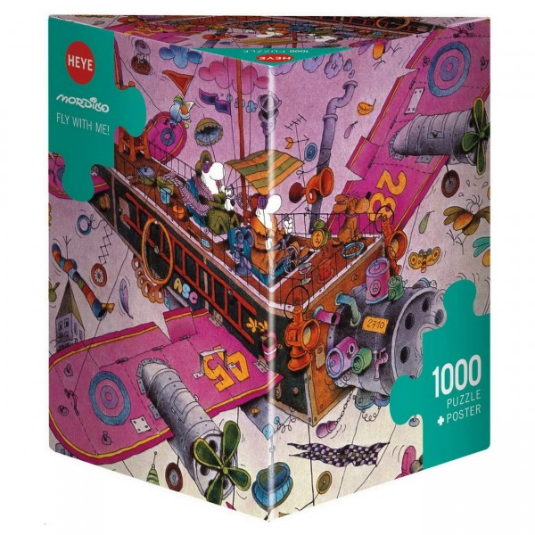 HEYE Puzzle - Fly with me Mordillo Triangular 1000 Teile