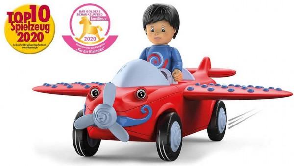 SIKU 0116 - Toddys - Leo Loopy - Flugzeug Auto rot hellblau