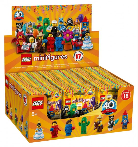 LEGO Minifigures 71021 - Party - Serie 18 - 60er Display
