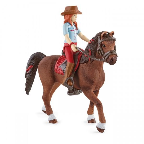 Hannah & Cayenne - Reiterin und Pferd - Schleich (42539) Horse Club