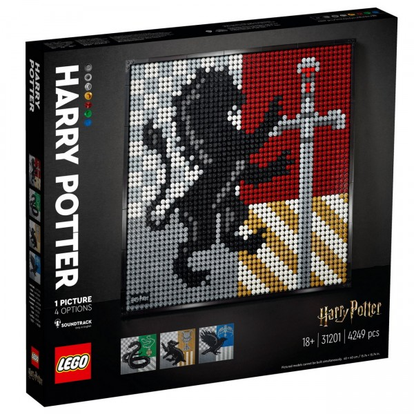 LEGO ART 31201 - Harry Potter Hogwarts Crests