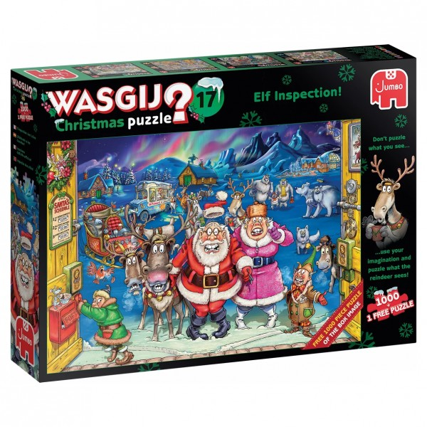 Wasgij Christmas 17 - Elf-Inspection - 2 Puzzle je 1000 Teile