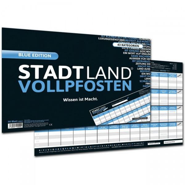 STADT LAND VOLLPFOSTEN - Wissen ist Macht - A3 Blue Edition (DENKRIESEN)