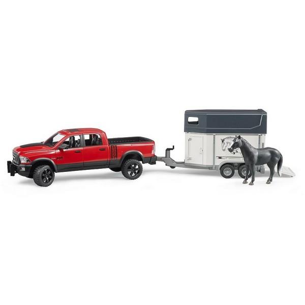 BRUDER 02501 - RAM 2500 Power Wagon mit Pferdeanhänger