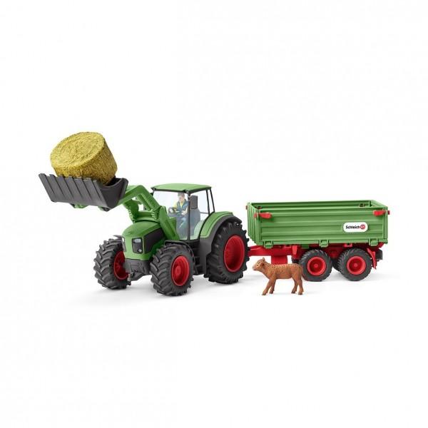 Traktor mit Anhänger - Schleich (42379) Farm World