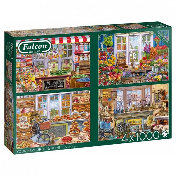 Puzzle - Your Favorite Shops (Falcon de Luxe) - 4x1000 Teile
