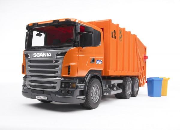 BRUDER 03560 - Scania R-Serie Müll-LKW (orange)
