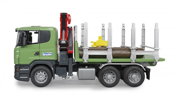 BRUDER 03524 - Scania R-Serie Holztransport-LKW mit Ladekran