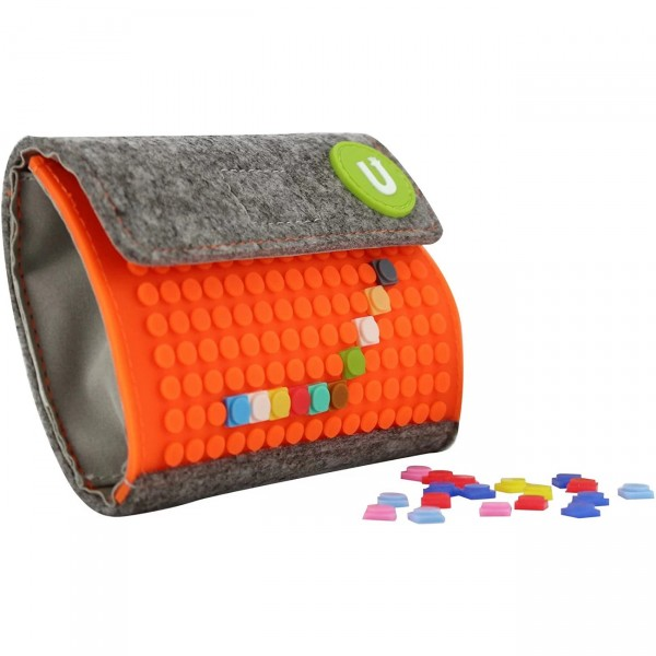 Pixelbag Portemonnaie grau/ orange