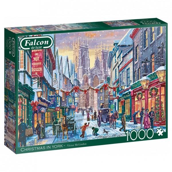 Puzzle - Weihnachten Christmas in York (Falcon de Luxe) - 1000 Teile