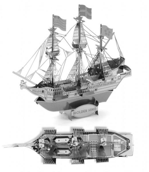 Metal Earth - Golden Hind - Segelschiff
