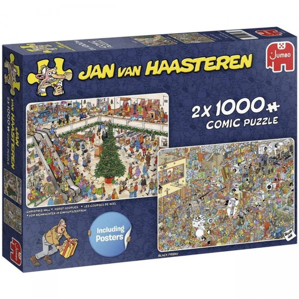 Puzzle - Holiday Shopping (van Haasteren) - 2x 1000 Teile