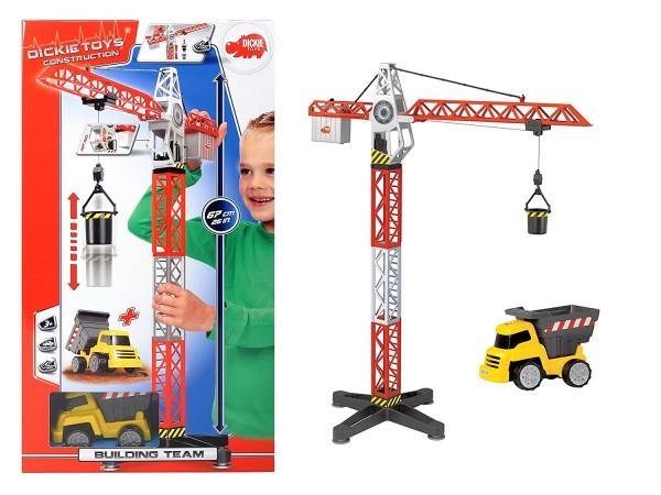 Kran Set mit Baustellenfahrzeug 67 cm (Dickie Toys)