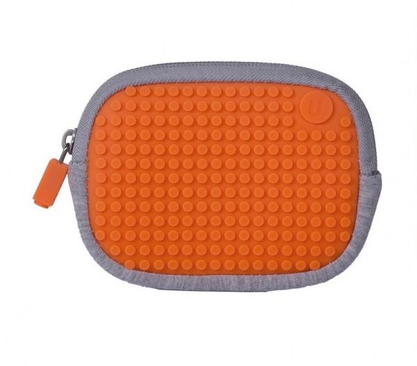 Pixelbag Universaltasche grau/ orange