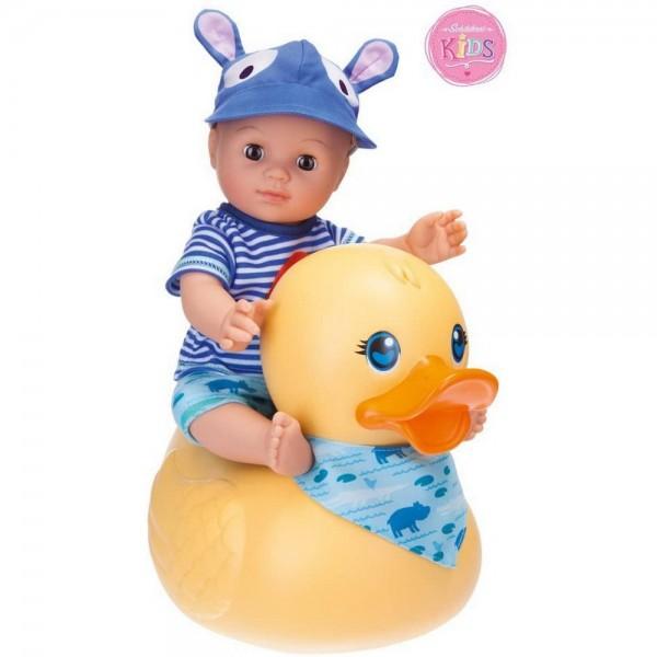 Badepuppe Boy mit Schwimmente (Schildkröt)