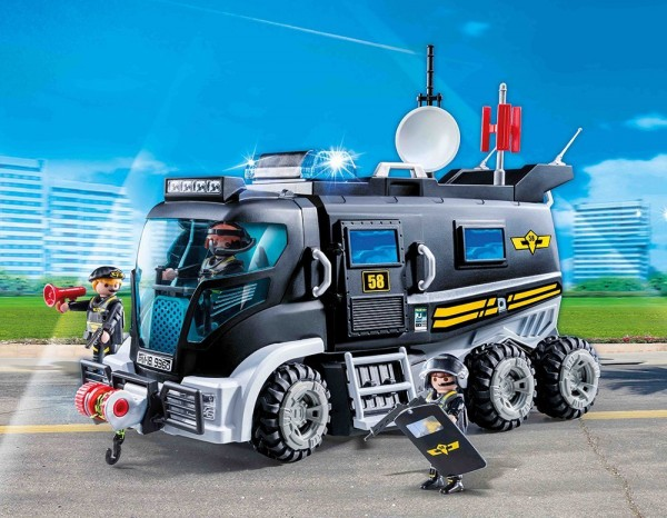 Playmobil 9360 - SEK Truck mit Licht und Sound (City Action)