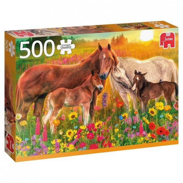 Puzzle - Pferde auf der Weide (Jumbo Premium Collection) - 500 Teile