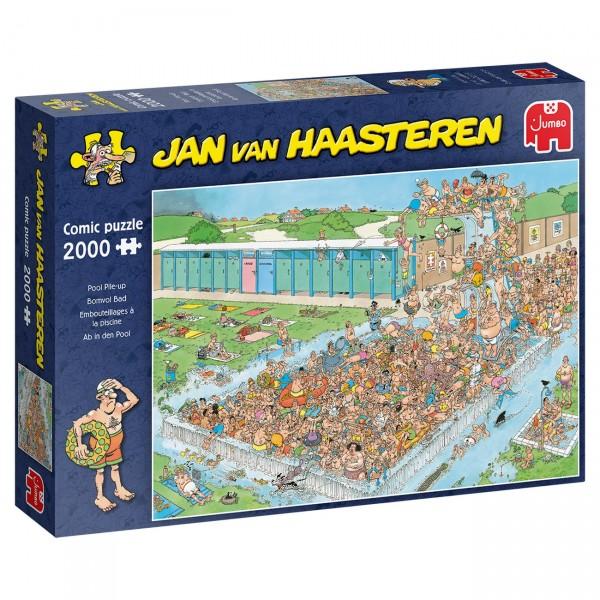 Puzzle - Ab in den Pool - Pool Pile-Up (van Haasteren) - 2000 Teile