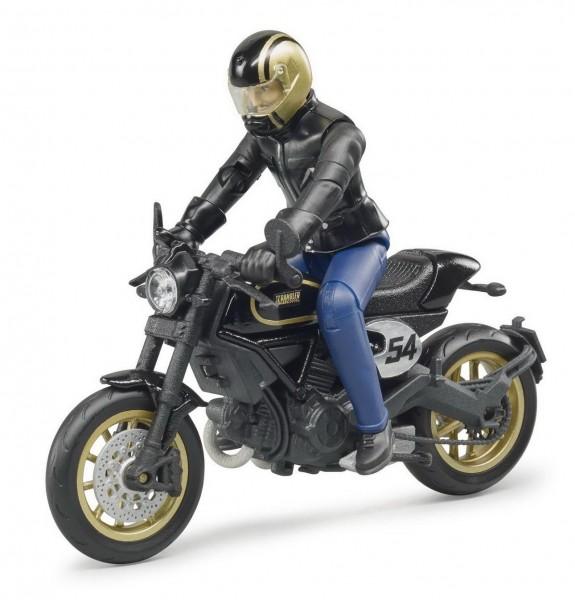 BRUDER 63050 - Ducati Cafe Racer Motorrad mit Fahrer (63050)