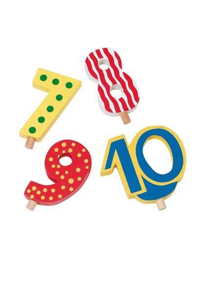Zahlen 7-10 für Geburtstagszug (Goki 60956)