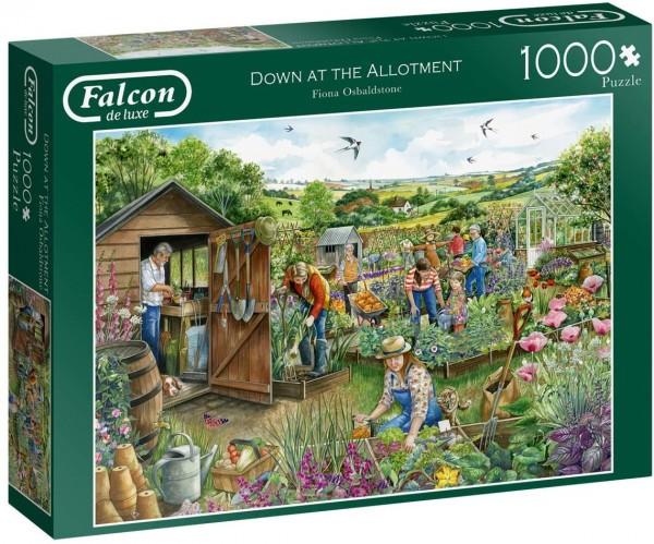 Puzzle - Unten im Kleingarten - Down at the Allotment (Falcon de Luxe) - 1000 Teile