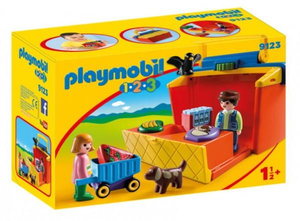Playmobil 9123 - 1.2.3 Mein Marktstand zum Mitnehmen