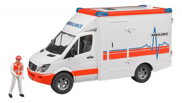 BRUDER 02536 - MB Sprinter Ambulanz mit Sanitäter