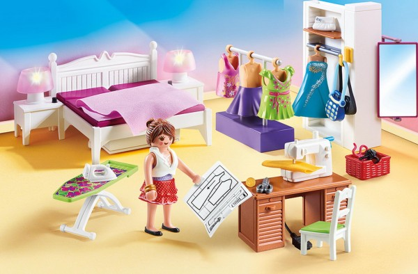 Playmobil 70208 - Schlafzimmer mit Nähecke (Dollhouse)
