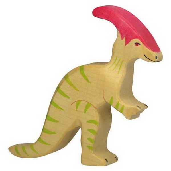 Holztiger Parasaurolophus (80340) Dinosaurier Figur