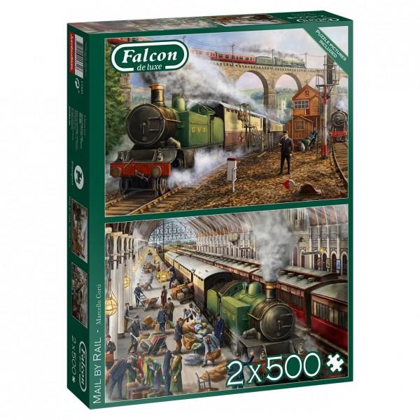 Puzzle - Post per Bahn - Mail by Rail (Falcon de Luxe) - 2 x 500 Teile