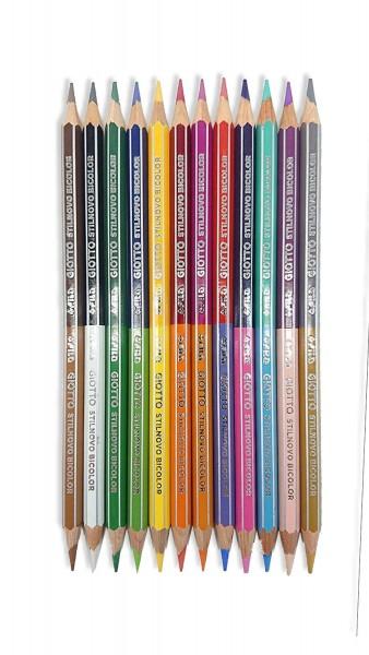 GIOTTO Stilnovo Bicolor 2 Farben Buntstifte 12er