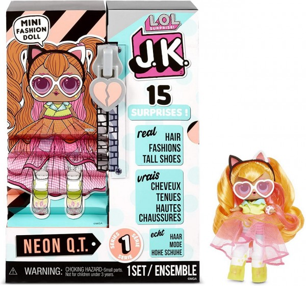 L.O.L. Surprise - J.K. Mini Fashion Doll - Neon Q.T.