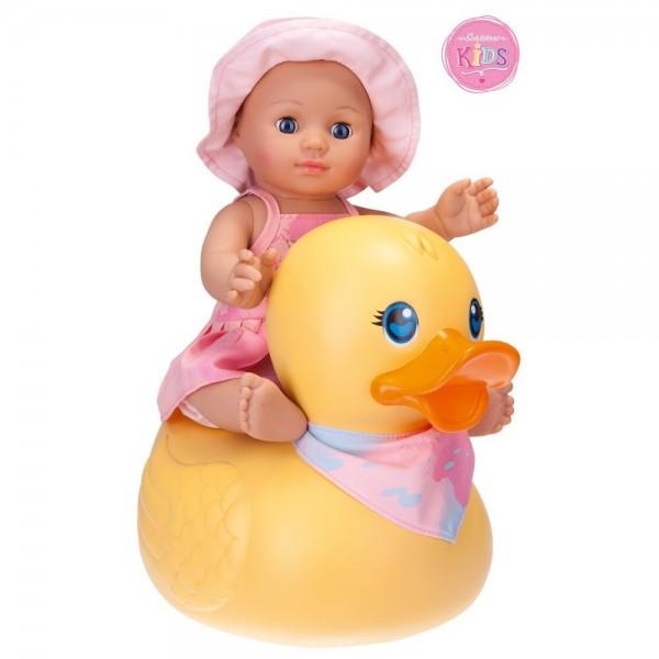 Badepuppe Girl mit Schwimmente (Schildkröt)