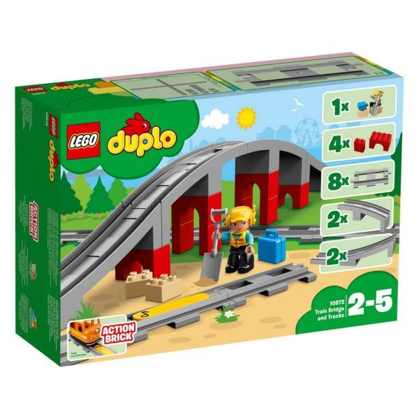 LEGO DUPLO 10872 - Eisenbahnbrücke und Schienen