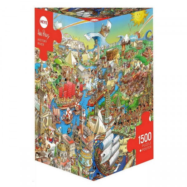 HEYE Puzzle - History River 1500 Teile Triangular
