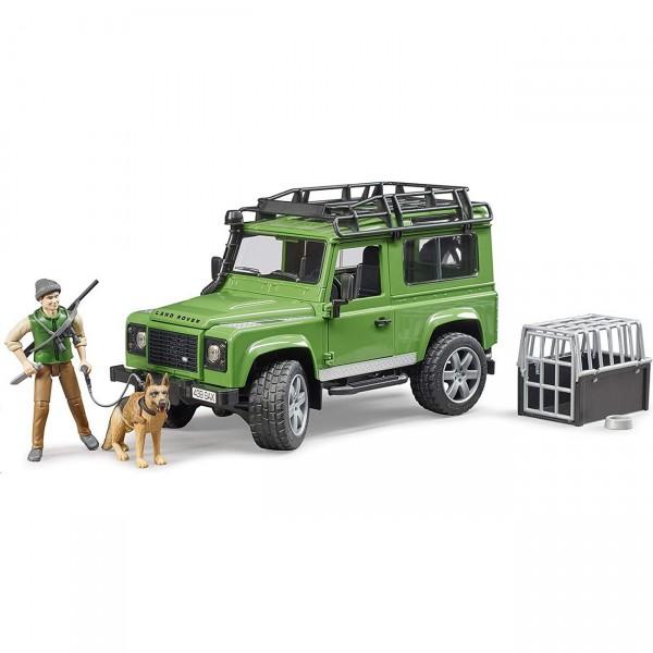 BRUDER 02587 - Land Rover Defender mit Förster und Hund